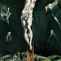 Christ Crucified With Toledo In The Background by El Greco