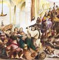 Christ Driving Out The Money Changers by Rick Ahlvers