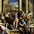 Christ Driving The Traders From The Temple 1576 by El Greco