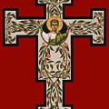 Christ Emmanuel Flowering Cross 018 by William Hart McNichols