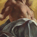 Christ In Glory  Detail by Il Baciccio