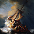 Christ In The Storm On The Lake Of Galilee Rembrandt 1633 by Rembrandt