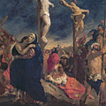 Christ On The Cross by Delacroix