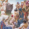 Christ Preaching From The Boat by Harold Copping