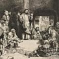 Christ Preaching (la Petite Tombe) by Rembrandt Van Rijn