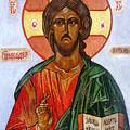 Christ The Pantocrator I by Ryszard Sleczka