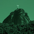 Christ The Redeemer In Green Sky by Fabio Sola