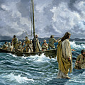 Christ Walking On The Sea Of Galilee by Anonymous