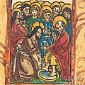 Christ Washing The Feet Of The Apostles by German 15th Century