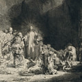 Christ With The Sick Around Him, Receiving Little Children by Rembrandt