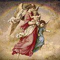 Christmas Angels And Baby by Bellesouth Studio