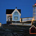 Christmas At The Nubble  by Catherine Reusch Daley