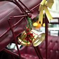 Christmas Bell On The Hansom Cab New York City by John Rizzuto