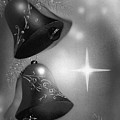 Christmas Bells In Black And White by Laura Greco