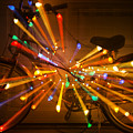 Christmas Bike Abstract by Garry Gay