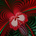 Christmas Butterfly Fractal 63 by Rose Santuci-Sofranko