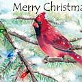 Christmas Cardinal by Arline Wagner