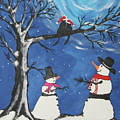 Christmas Cats In Love by Jeffrey Koss