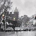 Christmas City Street by Francesa Miller