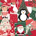 Christmas Collage by Jenny Revitz Soper