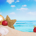 Christmas Decorations On The Beach by Sara Winter