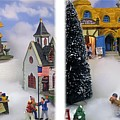 Christmas Display - Gently Cross Your Eyes And Focus On The Middle Image by Brian Wallace