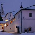 Christmas Evening Light In The Temple Suzdal by Anna Matveeva