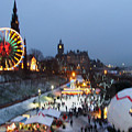 Christmas Fair Edinburgh Scotland by Heather Lennox