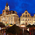 Christmas Fair In Front Of Town Hall by Panoramic Images