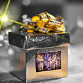 Christmas Golden Gift  by Alex Art and Photo
