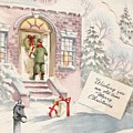 Christmas Greeting Card 36 - Snowy Winter Eve  by TUSCAN Afternoon