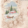 Christmas Greetings 1251 - Vintage Christmas Cards - Snowy Cottage by TUSCAN Afternoon