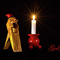 Christmas Greetings In Swedish On A Norwegian Gnome Nutcracker by Torbjorn Swenelius