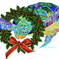 Christmas Holiday Sea Turtle by Jo Lynch