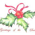 Christmas Holly by Deborah Ronglien