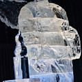 Christmas Ice Sculpture Angel by Ruth Housley