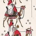 Christmas Illustration 1234 - Vintage Christmas Cards - Three Kings On Camel by TUSCAN Afternoon