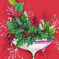 Christmas Illustration 1241 - Vintage Christmas Cards - Mistletoe by TUSCAN Afternoon