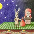 Christmas Illustration by Anastasia Saburova