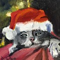 Christmas Kitten by Donna Tuten