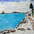 Christmas Lighthouse by Kathleen W Jones