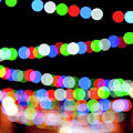 Christmas Lights Bokeh Blur by Helen Northcott
