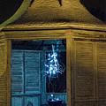 Christmas Lights In Gazebo by David Arment