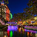Christmas Lights On The Riverwalk 2 by Craig H Sladek