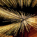 Christmas Lights Zoom Blur II by Helen Northcott