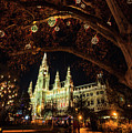 Christmas Market At The Vienna City Hall by Vichai Phububphapan