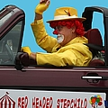 Christmas Parade Clown In Car by Ericamaxine Price