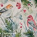 Christmas Pine Grosbeaks by Cascade Colors