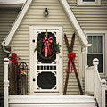 Christmas Porch by Joann Waggoner