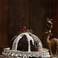 Christmas Pudding With Cream by Amanda Elwell